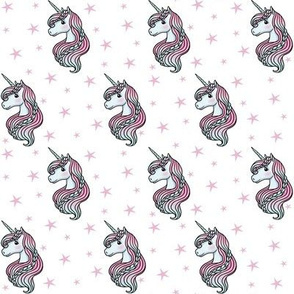 unicorn- white & light pink - SMALL