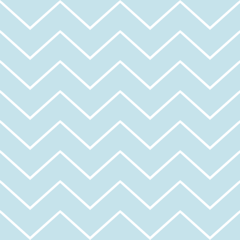 Chevron aqua 2 fabric by lilyoake on Spoonflower - custom fabric