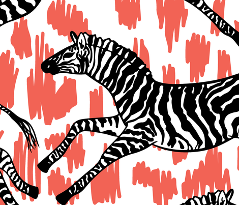 Funny zebra fabric by argunika on Spoonflower - custom fabric