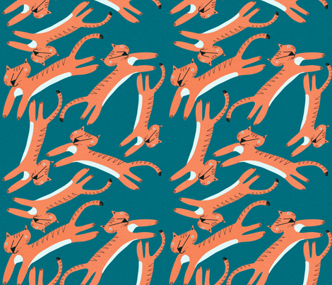 Tigers fabric by anda on Spoonflower - custom fabric