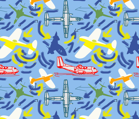 Lots of Planes fabric by lorloves_design on Spoonflower - custom fabric