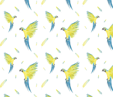 Macaw Parrot fabric by thelmabjorns on Spoonflower - custom fabric