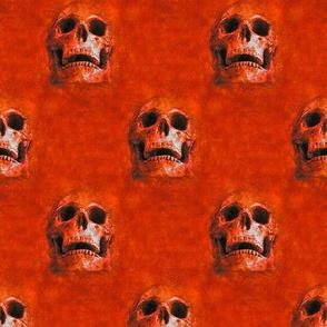 skulls everywhere - red