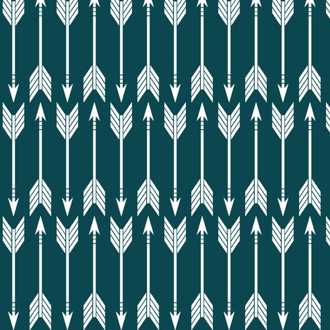 arrows dark teal || the yellowstone collection (90) fabric by littlearrowdesign on Spoonflower - custom fabric