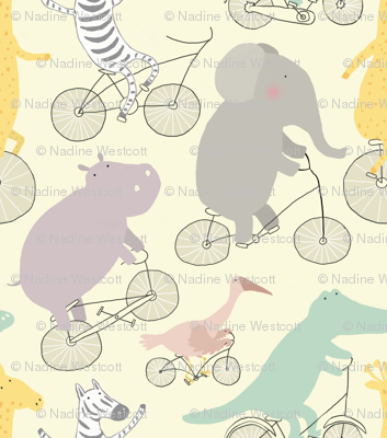 If Jungle Animals Rode Bikes