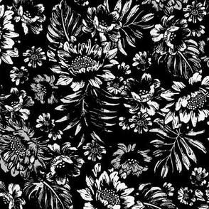 Bonita Floral - Stamped Black