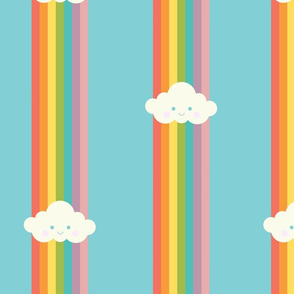 Proud rainbow cloud pattern