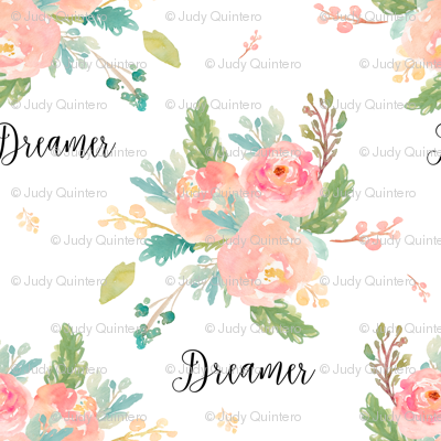 "9"" Dreamer Florals with Quote"