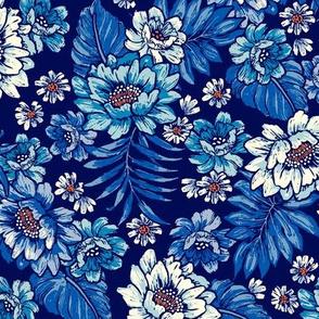 Bonita Floral - Blues