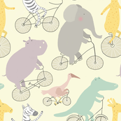 If Jungle Animals Rode Bikes large scale