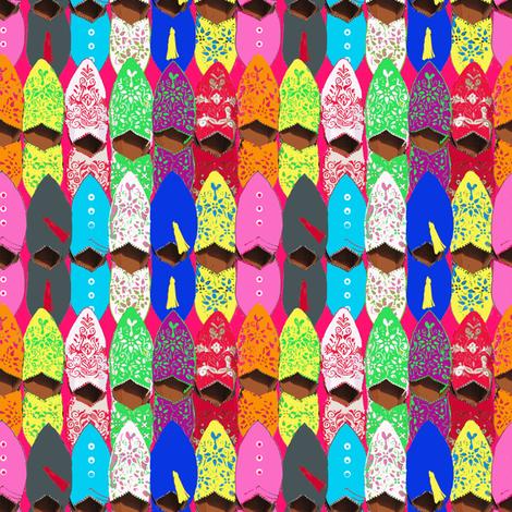 Slippers - Marrakesh Souk Shopping  fabric by lisakling on Spoonflower - custom fabric