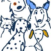 Color Pop Doodle Dogs