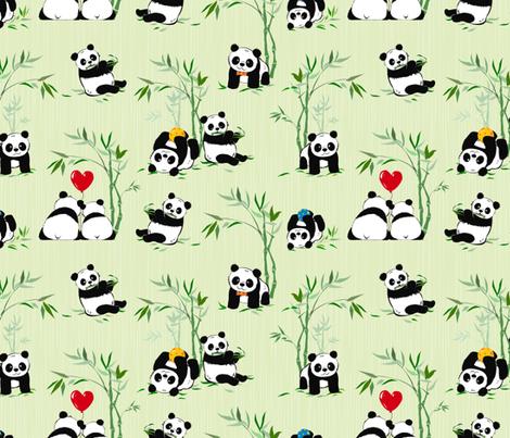 Giant panda cuties fabric by avisnana on Spoonflower - custom fabric
