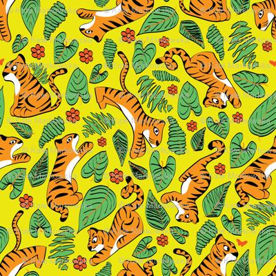 playfull tiger