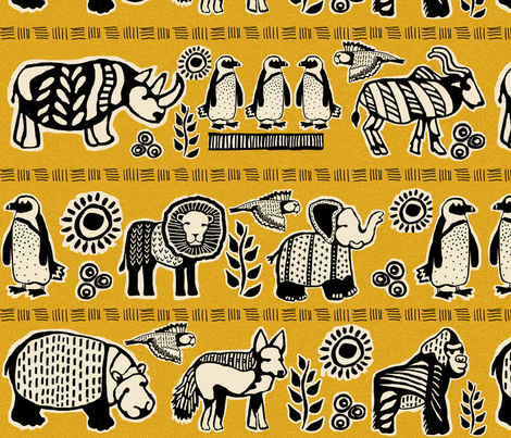 Endangered African Animals fabric by lacy_and_jojo on Spoonflower - custom fabric