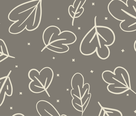 Neutral_Leaf fabric by octoberforever on Spoonflower - custom fabric