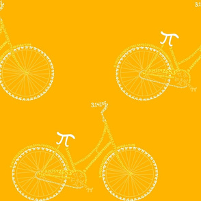 Pi-cycle in gold and yellow