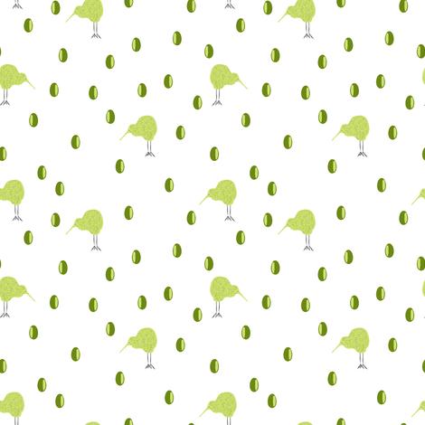 kiwi endangered fabric by pimento on Spoonflower - custom fabric