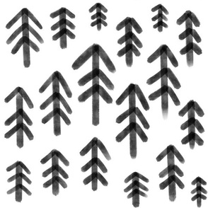 Woodland Forest - Monochrome