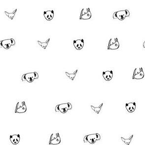 Endangered Animals Black and White