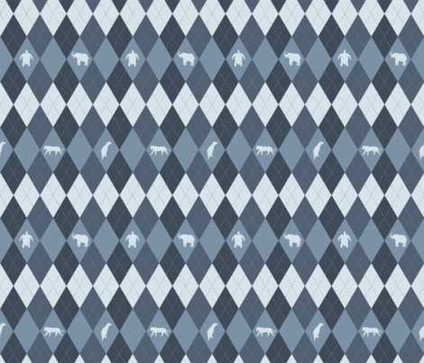 BlueArgyle_Endangered fabric by red_kat on Spoonflower - custom fabric