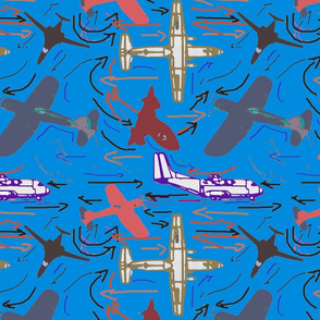 Planes of all kinds ocean