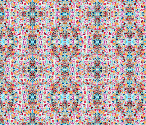 coralreef(mirror repeat) fabric by marigoldpink on Spoonflower - custom fabric