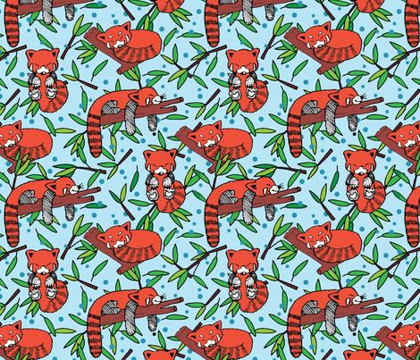 sleeping red pandas fabric by lalaliz on Spoonflower - custom fabric