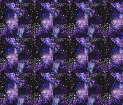 Caduceus Galaxy fabric by dreneewilson on Spoonflower - custom fabric