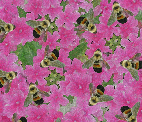 rusty patched bumblebee fabric by fanciful_whimsy on Spoonflower - custom fabric
