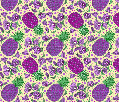 pineapple party fabric by leroyj on Spoonflower - custom fabric