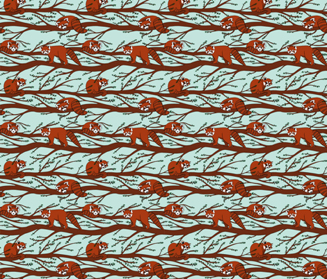 Red Pandas fabric by new_branch_studio on Spoonflower - custom fabric