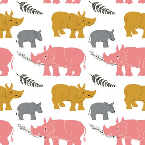Sumatran Rhinos fabric by rima_tessman on Spoonflower - custom fabric