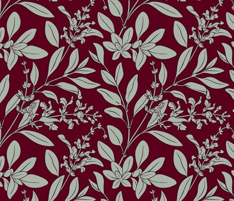 Parsley Sage Rosemary and Thyme fabric by la_panim on Spoonflower - custom fabric