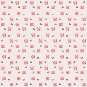 Dogwood Blossoms on Pinkish Gray