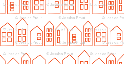 houses in orange