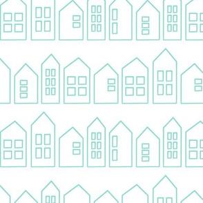 houses in aqua
