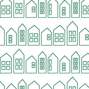 houses in green