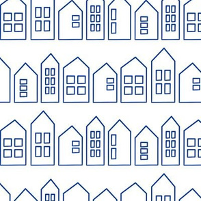 houses in blue