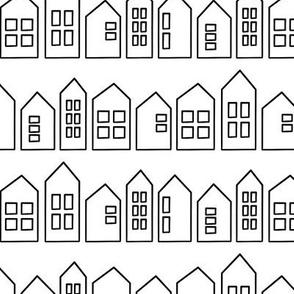 houses in black