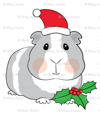 christmas guinea-pigs-with-santa-hats-and-holly