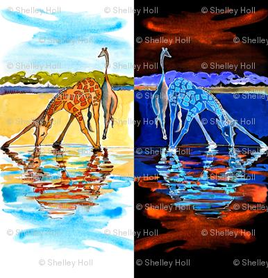 Drinking Giraffe Pattern Unitdouble 5
