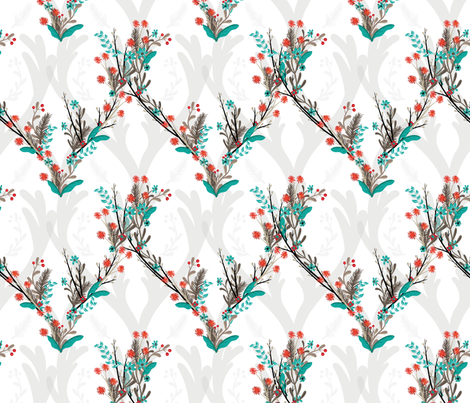 The Woodland Caribou fabric by karenlizzie on Spoonflower - custom fabric