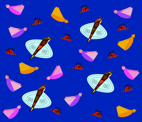 soaring critters fabric by designs_by_phyllis_lepore on Spoonflower - custom fabric