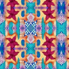 Polynesian Print Fabric