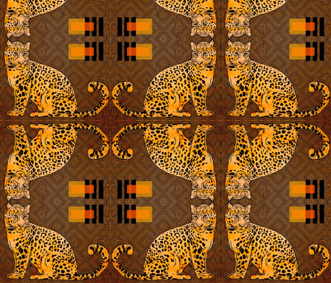 Amur Leopard fabric by lbehrendtdesigns on Spoonflower - custom fabric