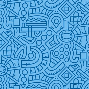 inklaura's doodle #1 Blue on Blue