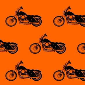 "4"" Motorcycles on Orange"