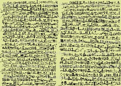 Egyptian Script on Goldenrod // Small