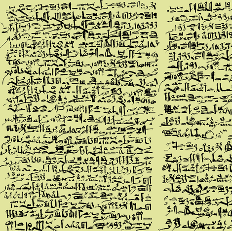 Egyptian Script on Goldenrod // Small fabric by thinlinetextiles on Spoonflower - custom fabric